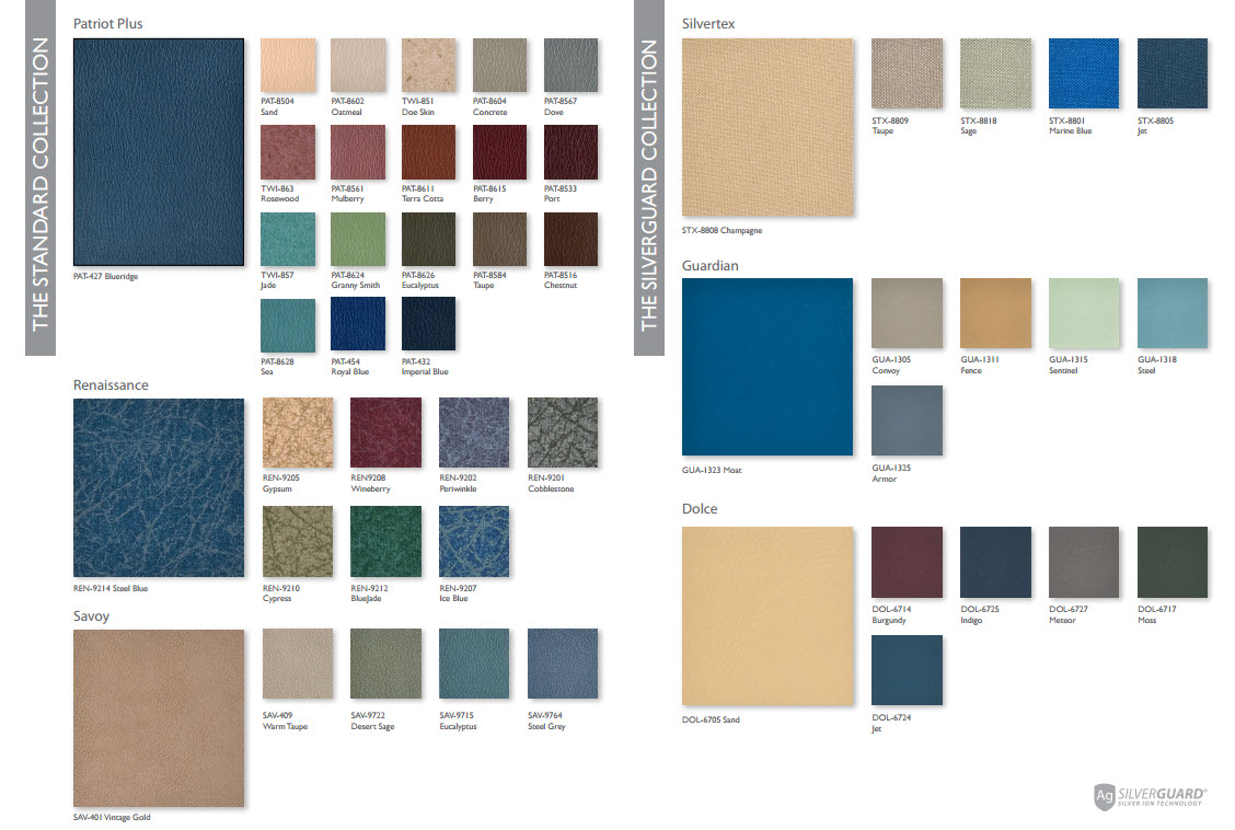 lumex clinical care seating swatch